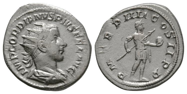 Gordian III - Emperor Standing Antoninianus