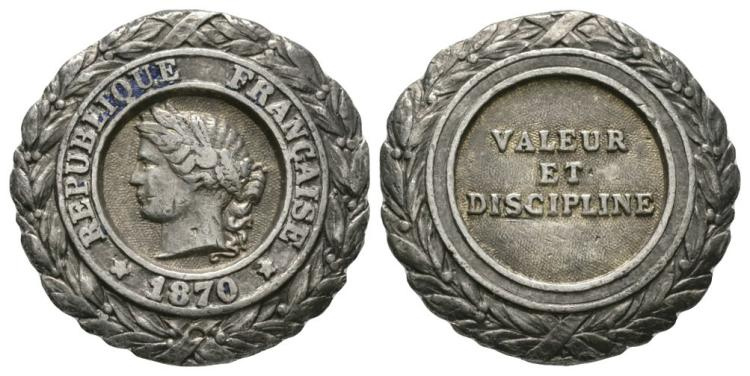 France - Third Empire - 1870 - Silver Military Medal