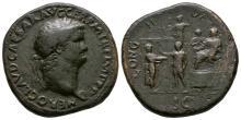 Nero - Emperor on Platform Sestertius