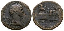 Trajan - Emperor Addressing Soldiers Sestertius