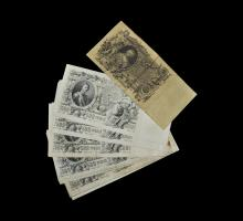 World Banknotes - Russia - 1910, 1912 - 100 and 500 Roubles Group [15]
