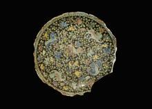 Chinese Large Glazed Ceramic Dish