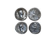 Ancient Roman Imperial Coins - Nerva and Trajan - Fortuna and Denarii Group [2]
