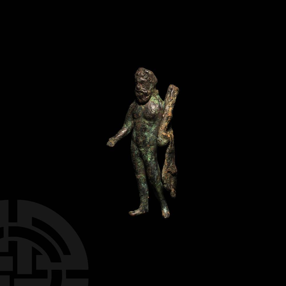 Roman Hercules with Lion's Skin Figurine