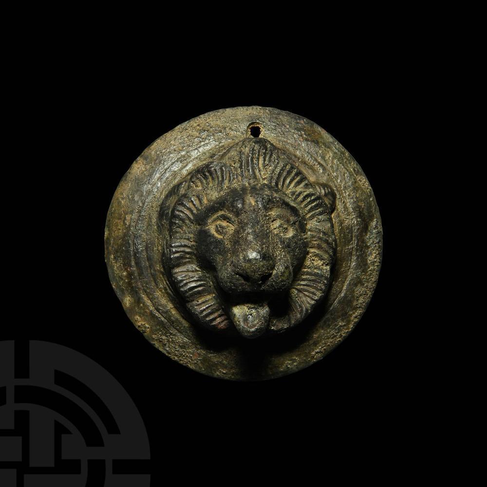 Roman Military Phalera with Lion