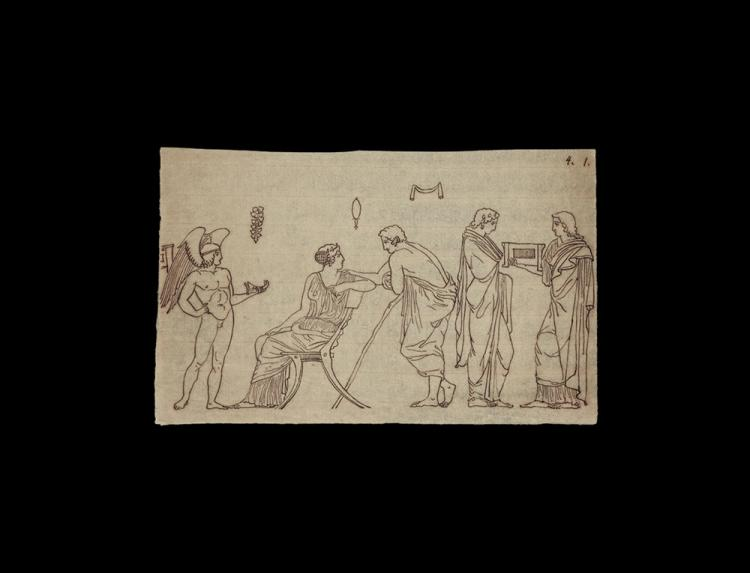 Greek Drawing for Sir Hamilton's Book on Greek Vases