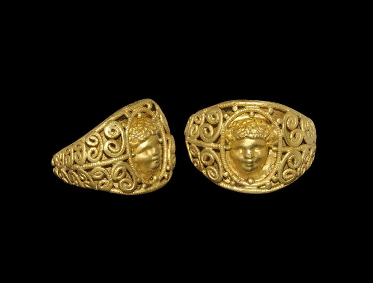 Roman Gold Ring with Eros