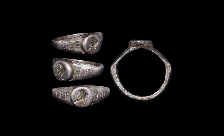 Roman Military Ring with Eagle