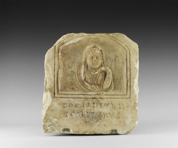 Roman Inscribed Figural Stele