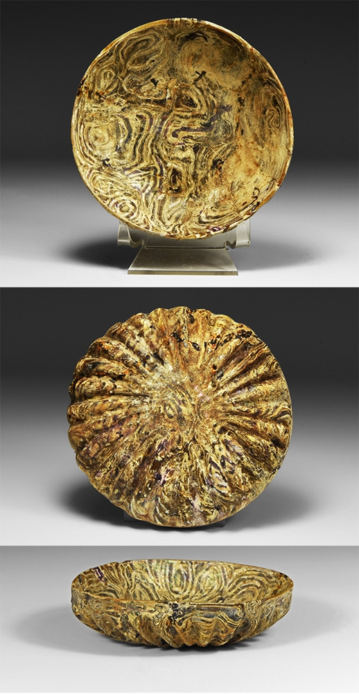 Roman Marbled Glass Dish