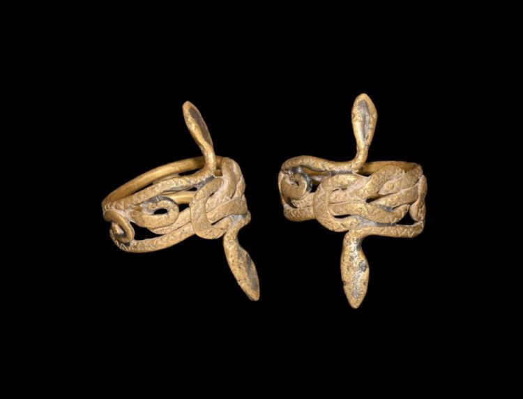 Roman Snake Ring with Hercules Knot