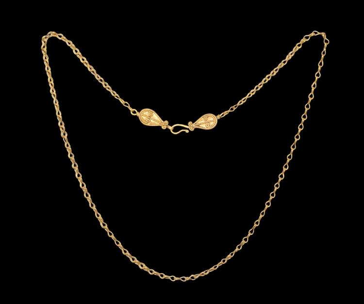 Roman Gold Chain with Ornate Closure