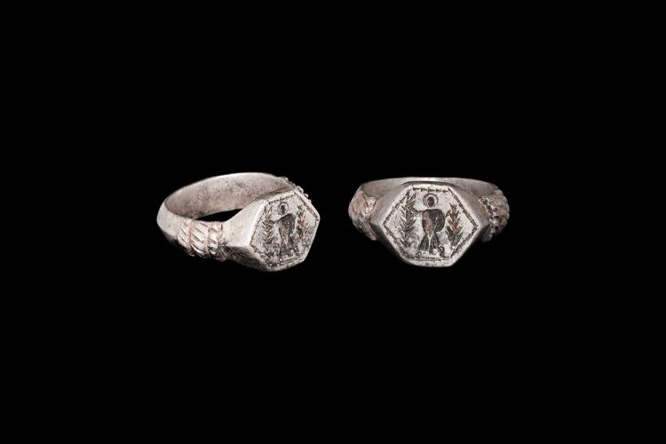 Roman Ring with Figure of a Saint