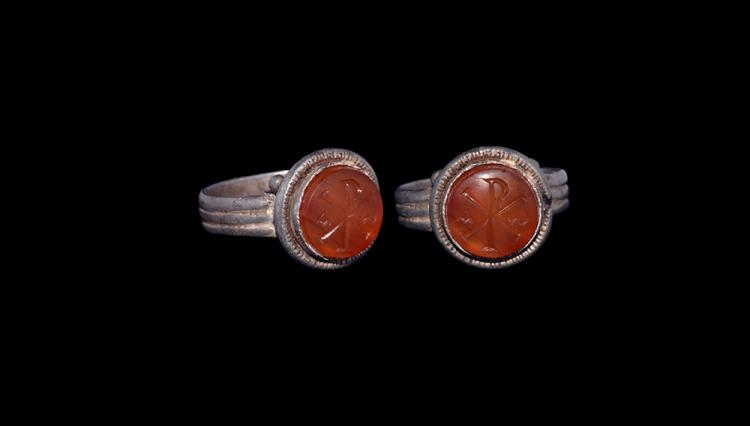 Roman Ring with Chi-Rho Intaglio