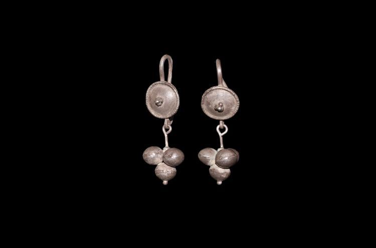 Roman Shield-Shaped Earrings