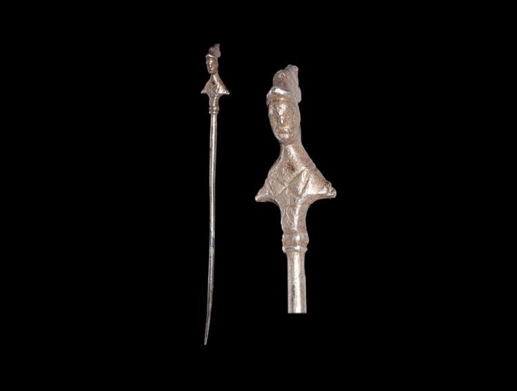 Roman Pin with Minerva
