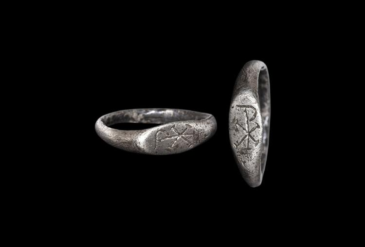 Roman Ring with Chi-Rho