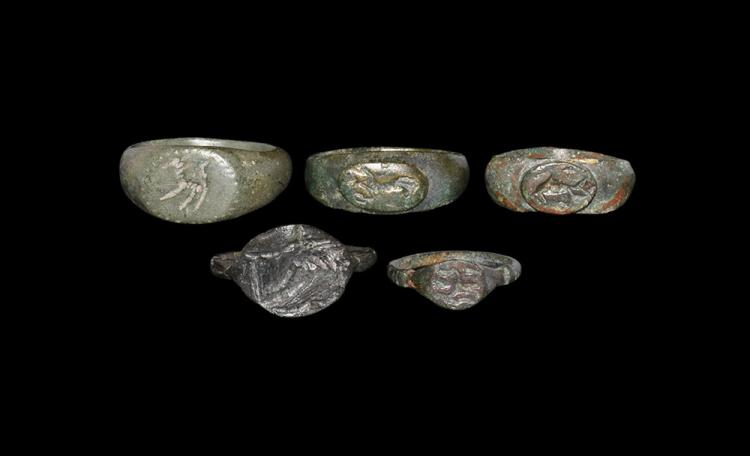 Roman Group of Engraved Rings