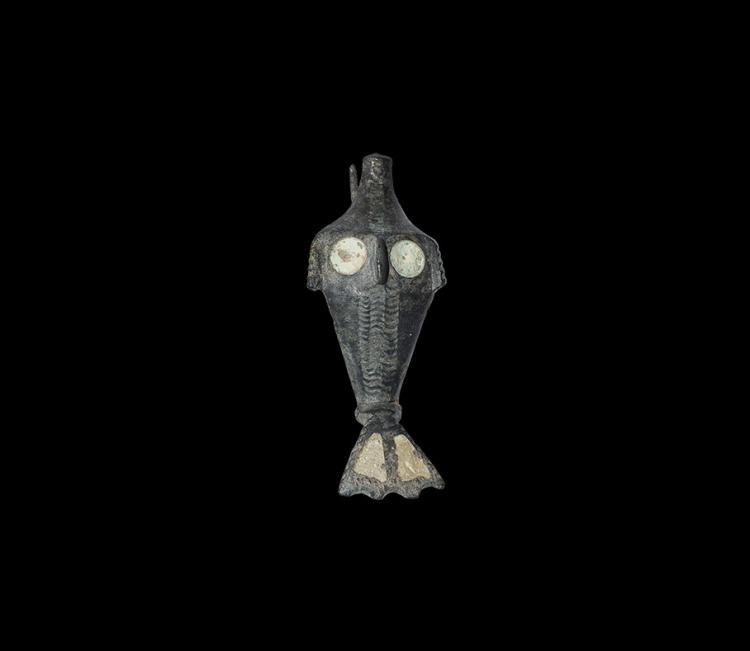 Roman Enamelled Dolphin Brooch