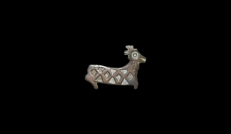 Roman Stag Plate Brooch