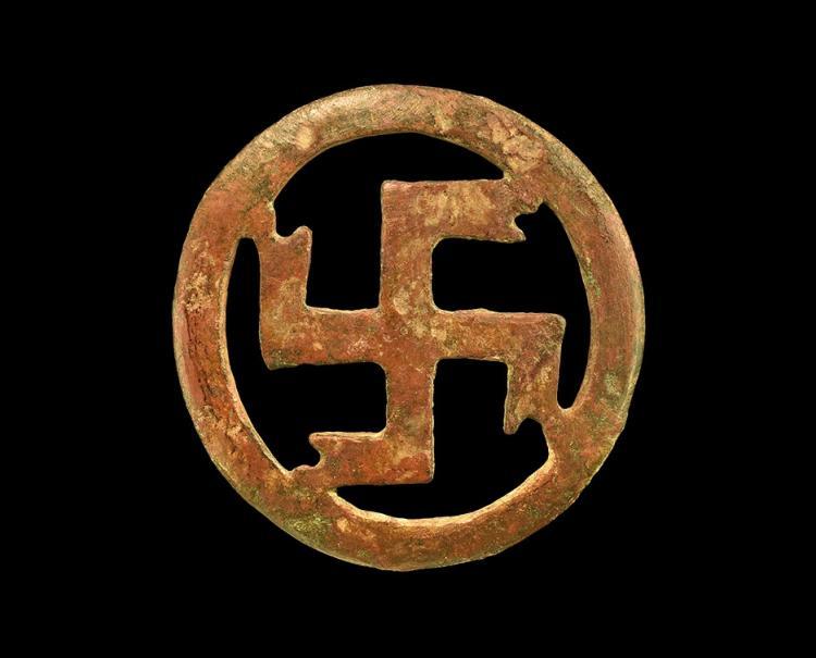 Roman Openwork Swastika Mount