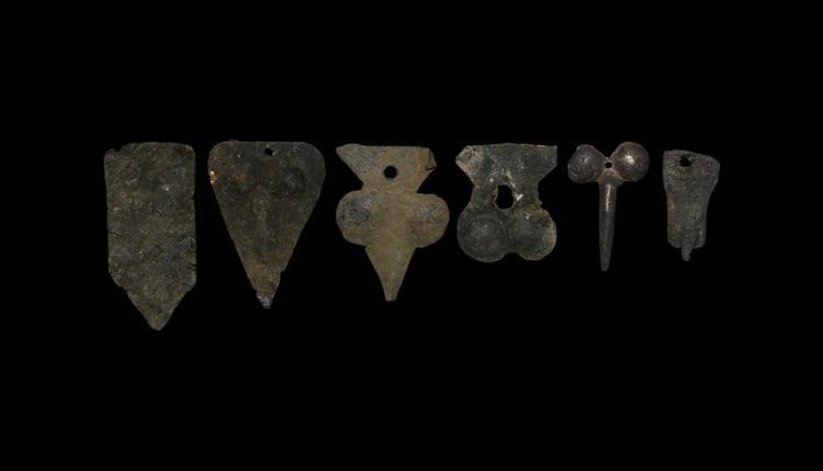 Roman Repousse Phallic Mount Group