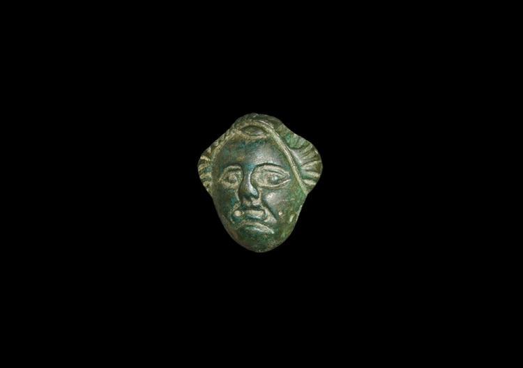 Roman Mask Appliqué