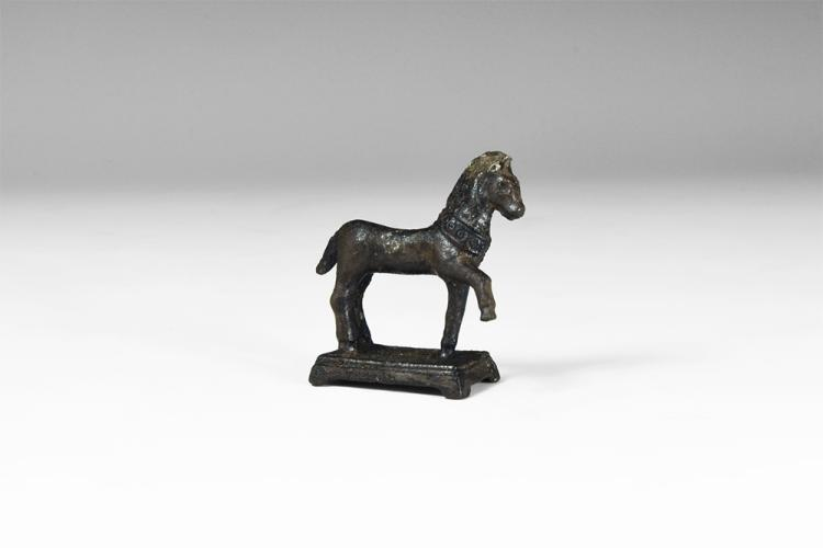 Roman Stepping Horse Statuette