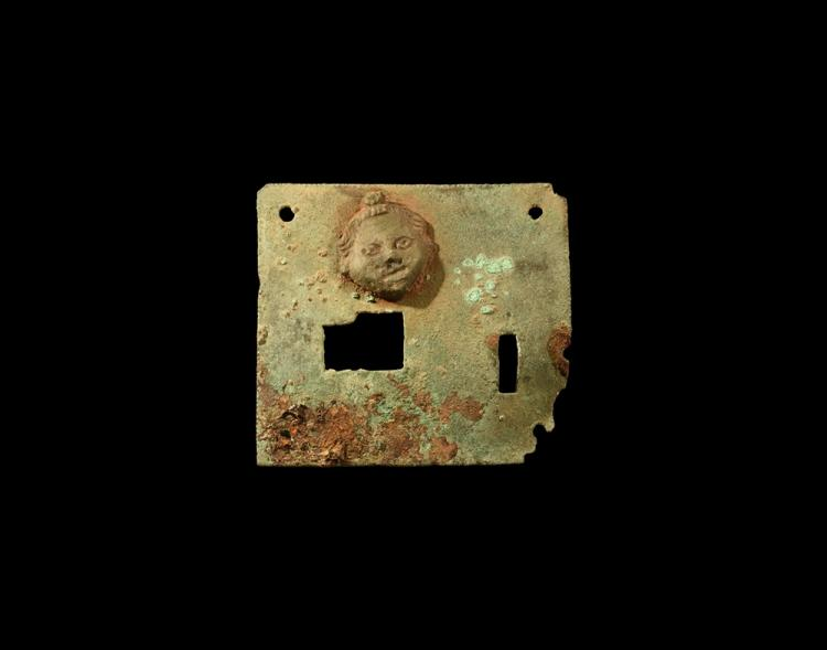 Roman Lock Plate with Face
