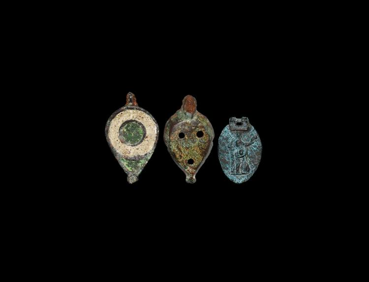 Roman Enamelled Seal Box and Lid Group