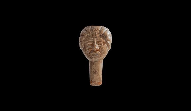 Roman Terracotta Figural Whistle