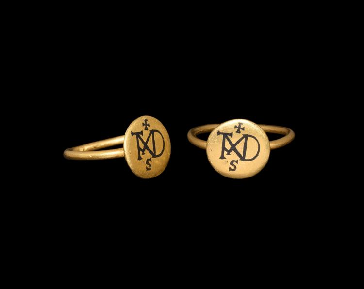 Byzantine Gold Ring with Monogram