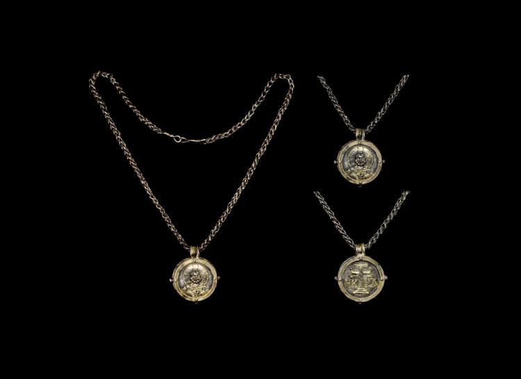 Byzantine Reliquary Pendant and Chain