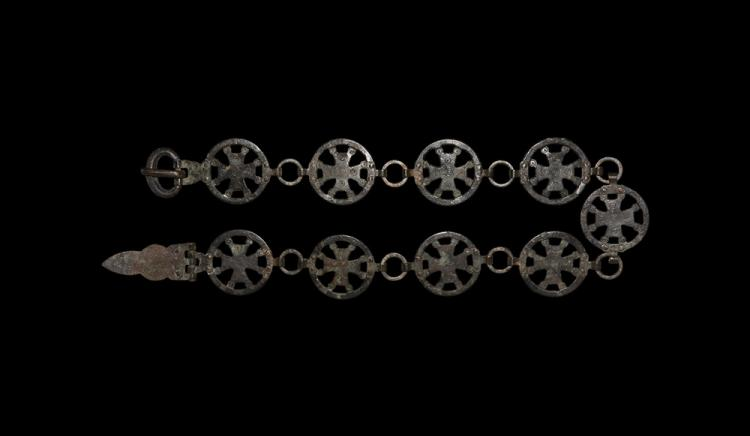 Byzantine Belt with Openwork Crosses