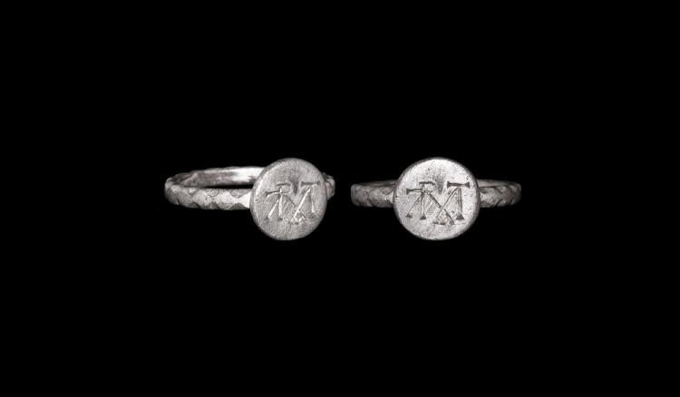Byzantine Ring with Monogram