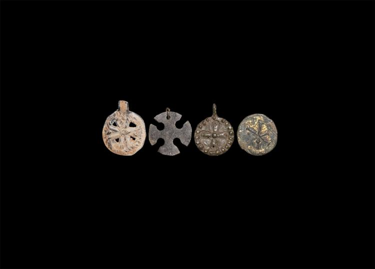 Byzantine Pendant Cross Group
