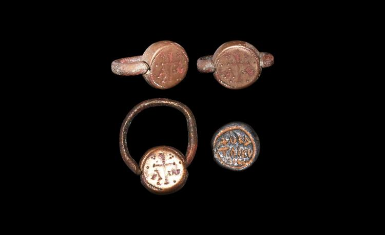 Byzantine Swivel Seal Ring and Bezel Group