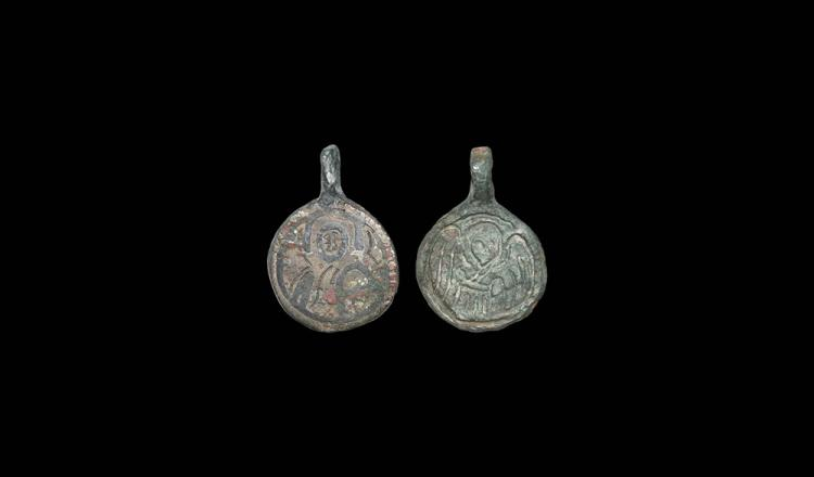 Byzantine Figural Pendant Pair
