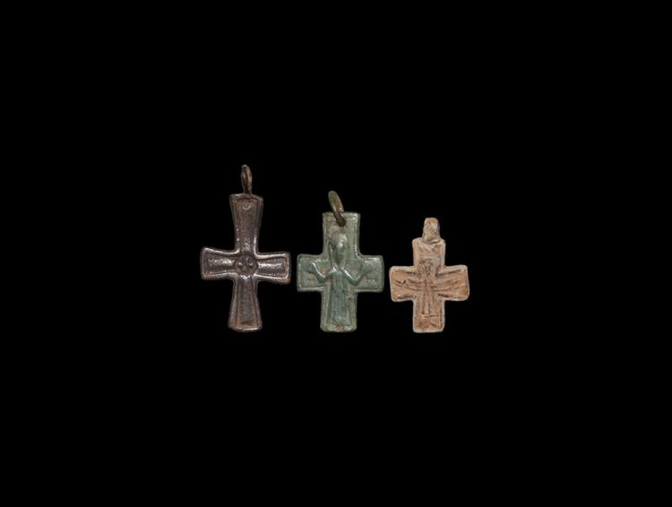 Byzantine Pendant Cross Group