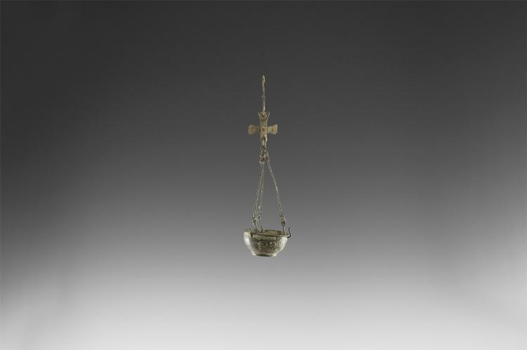 Byzantine Hanging Bowl with Cross