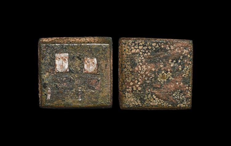 Byzantine Inlaid Figural Trade Weight