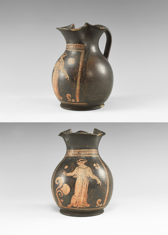 Greek Red-Figure Oinochoe