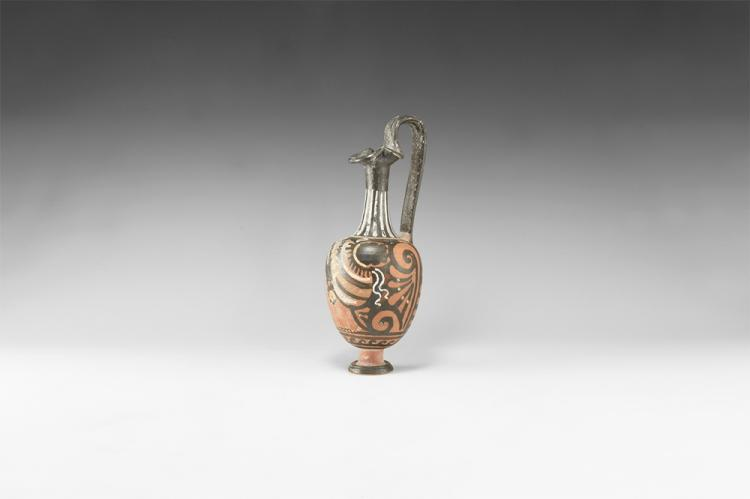 Greek Oinochoe with Lady of Fashion