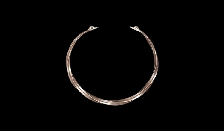 Greek Thracian Torc with Swan's Head Terminals