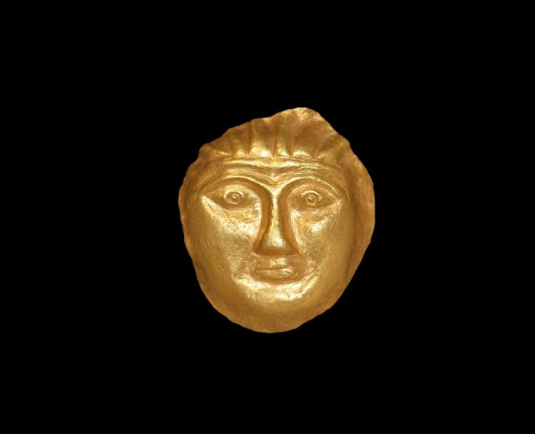 Scythian Gold Female Mask Appliqué