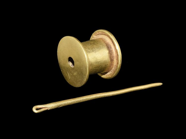 Parthian Gold Cotton Reel and Bodkin