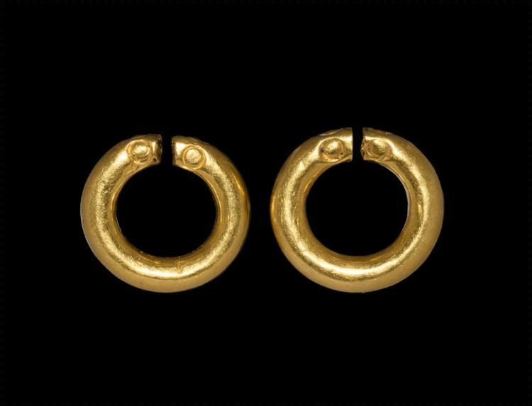 Parthian Gold Hair Ring Pair