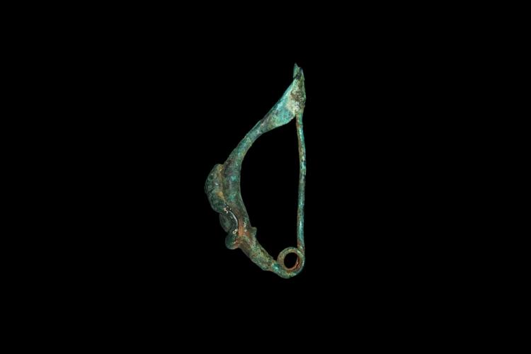 Greek Leech Brooch with Serpent