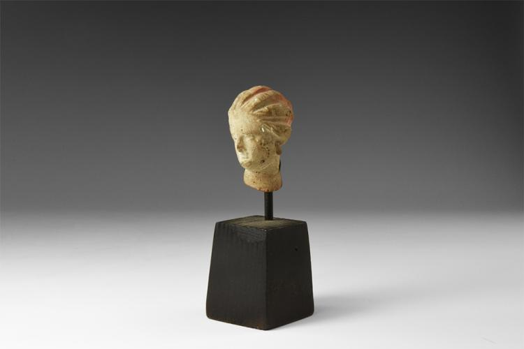 Greek Tanagra Figurine Head