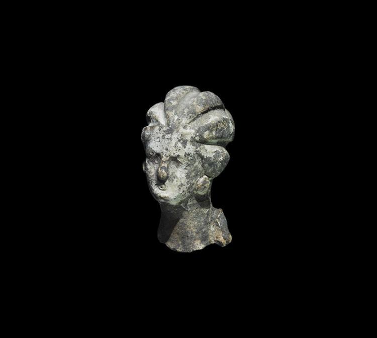 Greek Hellenistic Tanagra Female Bust